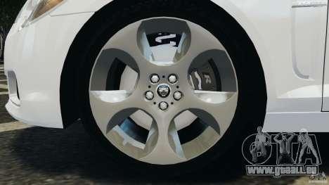 Jaguar XFR 2010 v2.0 für GTA 4 rechte Ansicht