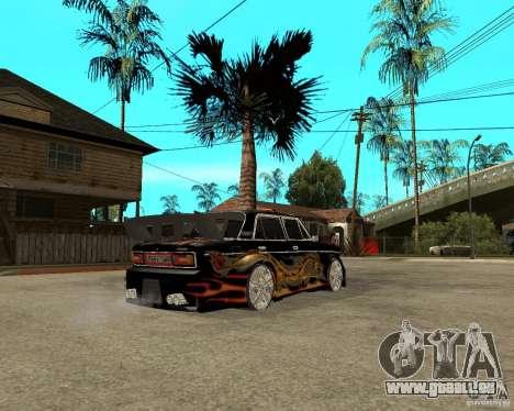 Mélodie de VAZ 2106 GTX pour GTA San Andreas vue de droite