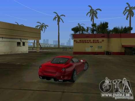 Ferrari 599 GTB pour GTA Vice City sur la vue arrière gauche