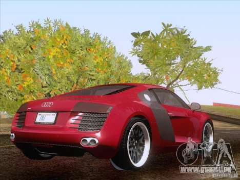 Audi R8 Hamann für GTA San Andreas Innenansicht
