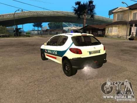 Peugeot 206 Police für GTA San Andreas linke Ansicht