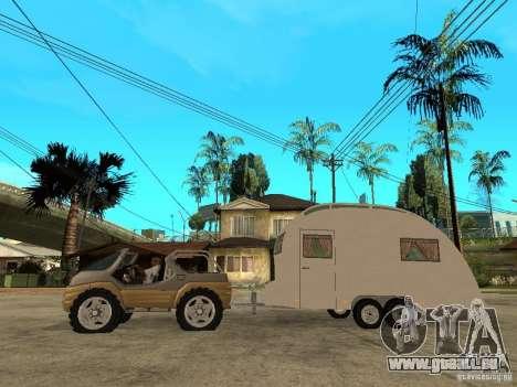 Ford Intruder 4x4 Concept + Caravan pour GTA San Andreas laissé vue
