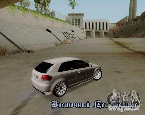 Audi S3 V.I.P pour GTA San Andreas vue de côté