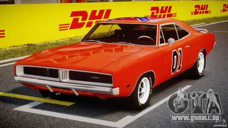 Dodge Charger General Lee 1969 für GTA 4 Rückansicht