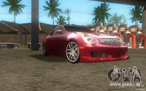 Infiniti G35 - Stock pour GTA San Andreas vue arrière
