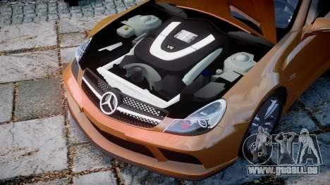 Mercedes-Benz SL65 AMG Black Series pour GTA 4 est une vue de l'intérieur