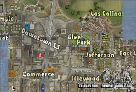La nouvelle carte et radar pour GTA San Andreas