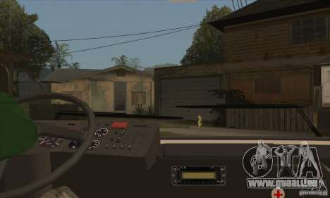 LAZ 52078 (Liner-12) pour GTA San Andreas vue intérieure