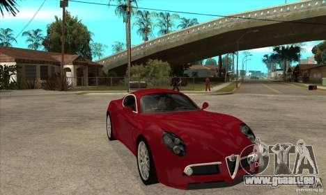 Alfa Romeo 8 C Competizione Lager für GTA San Andreas Innenansicht