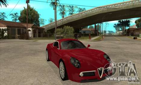 Alfa Romeo 8 c Competizione stock pour GTA San Andreas vue intérieure