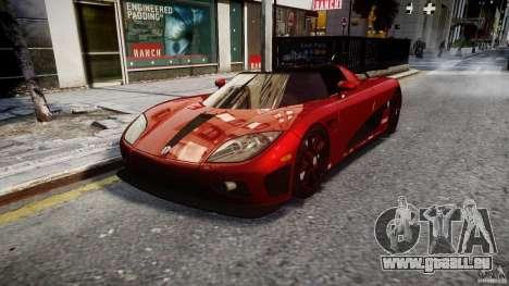 Koenigsegg CCXR Edition pour GTA 4 Vue arrière