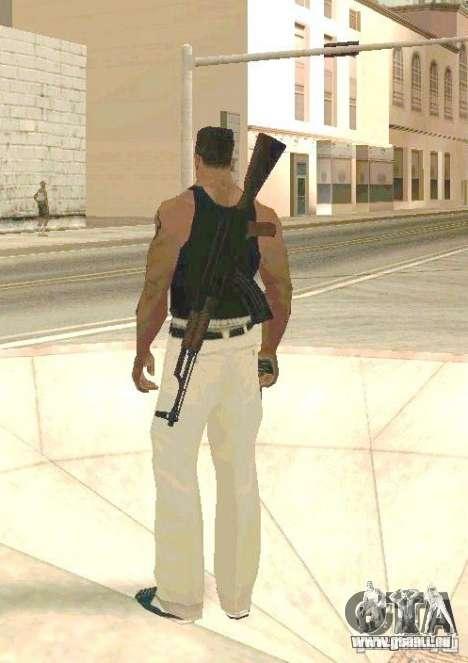 Armes sur les corps pour GTA San Andreas