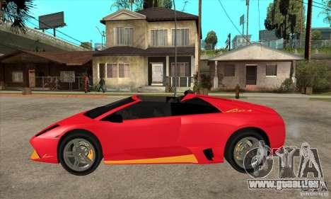 Lamborghini Murcielago LP650 pour GTA San Andreas laissé vue