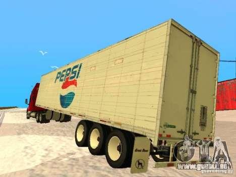 Trailer Artict3 pour GTA San Andreas vue de droite