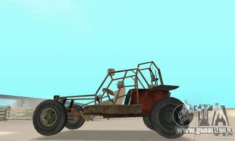 Half-Life Buggy pour GTA San Andreas sur la vue arrière gauche