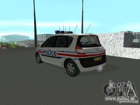 Renault Scenic II Police pour GTA San Andreas laissé vue