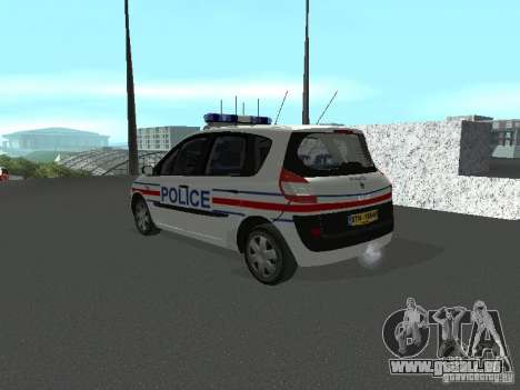 Renault Scenic II Police für GTA San Andreas linke Ansicht