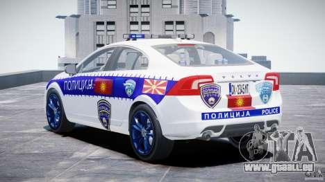 Volvo S60 Macedonian Police [ELS] pour GTA 4 Vue arrière de la gauche