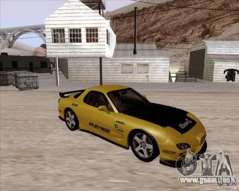 Mazda RX7 2002 FD3S SPIRIT-R (Type RS) pour GTA San Andreas vue intérieure