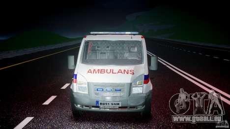 Ford Transit Polish Ambulance [ELS] pour GTA 4 vue de dessus