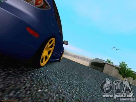 Mazda Speed 3 pour GTA San Andreas vue de dessus