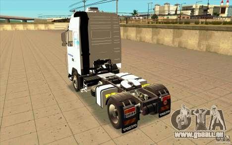 Volvo FH16 Globetrotter GAZEAU für GTA San Andreas zurück linke Ansicht