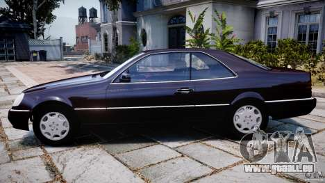 Mercedes-Benz 600SEC C140 1992 v1.0 pour GTA 4 est une gauche