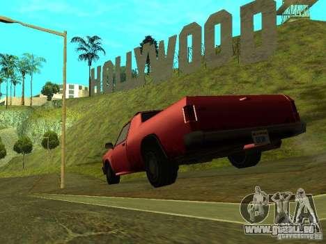 Picador pour GTA San Andreas sur la vue arrière gauche