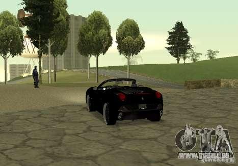 Ferrari California 2011 pour GTA San Andreas laissé vue