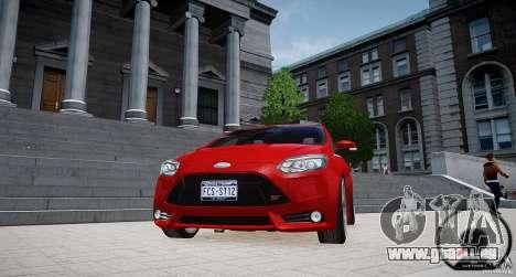 Ford Focus ST 2012 pour GTA 4 Vue arrière