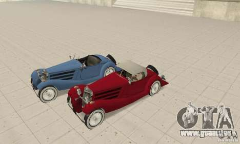 Mercedes-Benz 500K für GTA San Andreas Seitenansicht