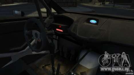 Ford Fiesta RS WRC pour GTA 4 Vue arrière