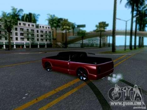 Slamvan Tuned pour GTA San Andreas sur la vue arrière gauche