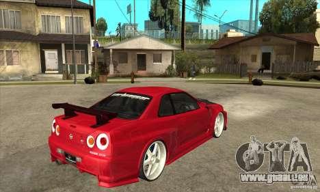Nissan Skyline GTR-34 Carbon Tune für GTA San Andreas rechten Ansicht