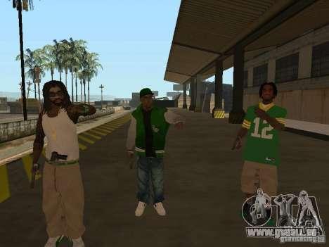 Neue Skins Grove für GTA San Andreas dritten Screenshot