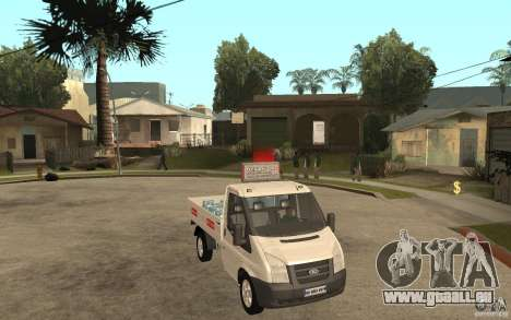 Ford Transit Pickup 2008 für GTA San Andreas Rückansicht