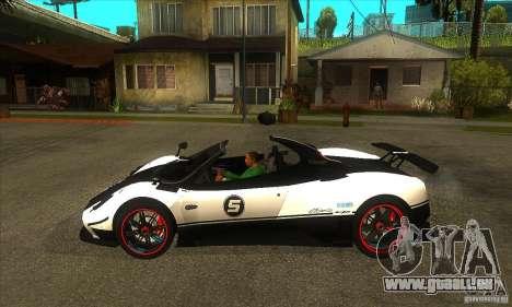 Pagani Zonda Cinque pour GTA San Andreas laissé vue