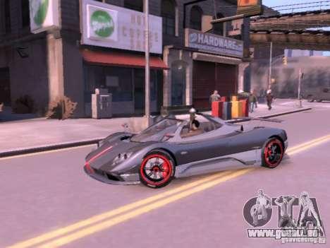 Pagani Zonda Cinque Roadster v 2.0 für GTA 4 rechte Ansicht