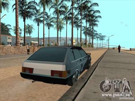 VAZ 21093i léger Tuning pour GTA San Andreas sur la vue arrière gauche