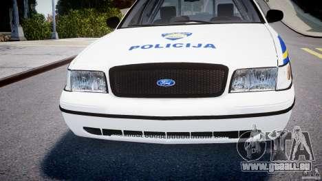 Ford Crown Victoria Croatian Police Unit pour GTA 4 vue de dessus