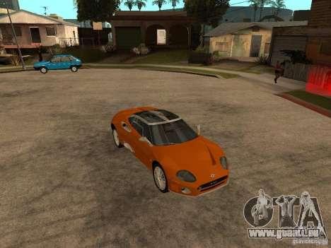 Spyker C8 Laviolete für GTA San Andreas Rückansicht
