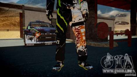 Ken Block Gymkhana 5 Clothes (Unofficial DC) für GTA 4 siebten Screenshot
