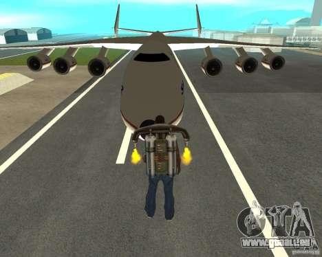 Antonow an-225 Mriya für GTA San Andreas Rückansicht