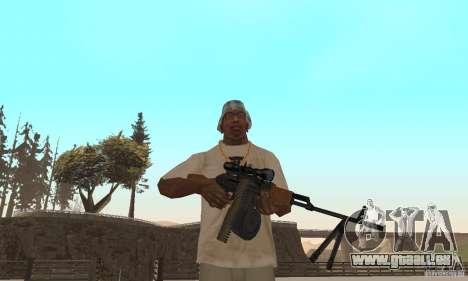 La portable mitrailleuse Kalachnikov pour GTA San Andreas