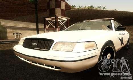 Ford Crown Victoria Washington Police für GTA San Andreas
