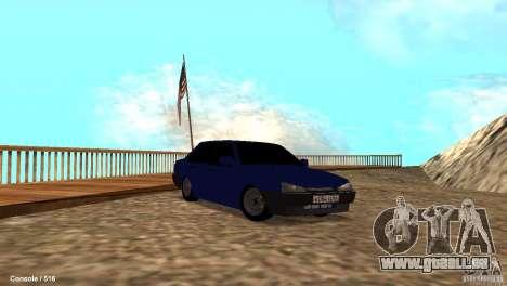 BAZ 21099 pour GTA San Andreas vue de dessous