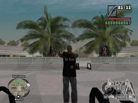 50 Cent-Tank-top für GTA San Andreas dritten Screenshot