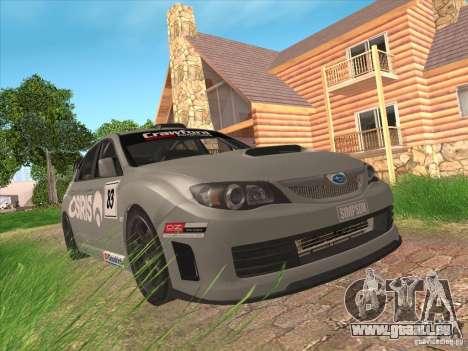 Subaru Impreza WRX STI N14 Gymkhana pour GTA San Andreas vue de dessus