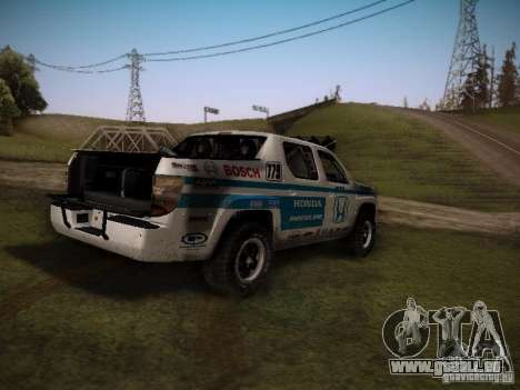 Honda Ridgeline Baja White pour GTA San Andreas laissé vue