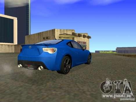 Toyota GT86 Limited pour GTA San Andreas vue de droite
